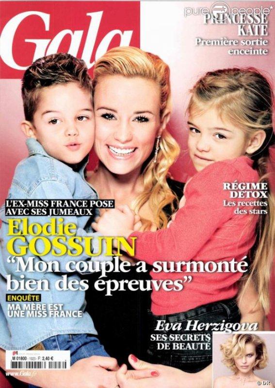 Elodie gossuin lach rie et ses jumeaux les c l brit s enceintes et leurs enfants - Elodie gossuin et ses enfants ...