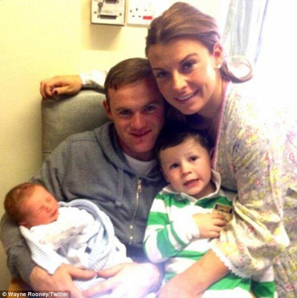 Wayne Rooney est Papa!