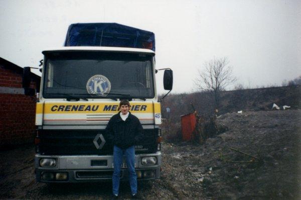 Et là c'est moi en croatie à Resnick entre Zagreb et Béograde, j'avais 22 ou 23 ans.