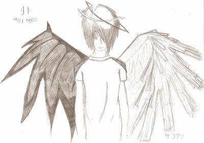Emo angel and demon dessin d - Dessin de demon ...