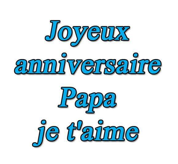 Bonne anniversaire papa même si tu et plus la on pense tjs aussi fort a toi on m'aime
