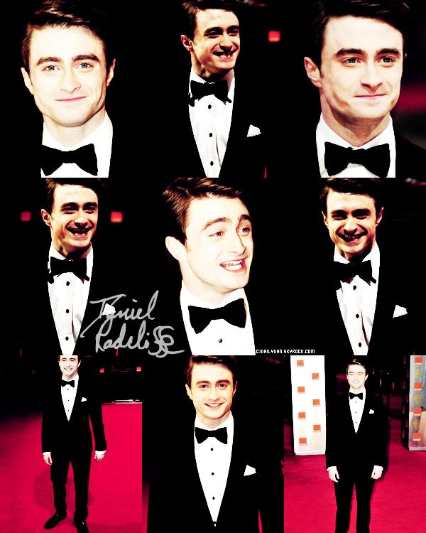 *   BAFTAS____ ; Photos et vidéo de Daniel lors des BAFTA awards, qui ont eu lieu aujourd'hui [11 février] + Harry Potter à gagné le BAFTA des meilleurs effets visuels et.. à suivre [en ce moment !] en Angleterre  *