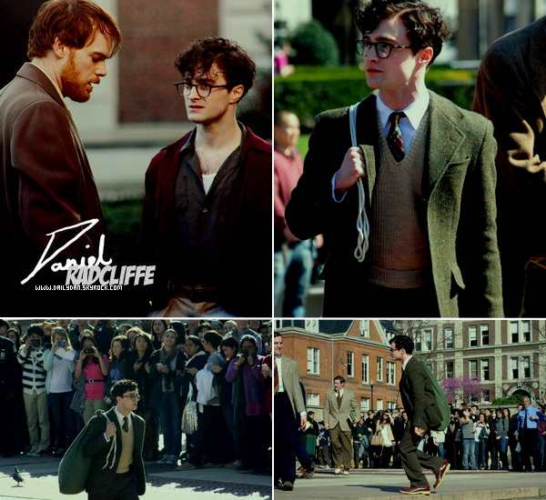 .  Daniel était en tournage a Columbia University pour Kill your Darlings .
