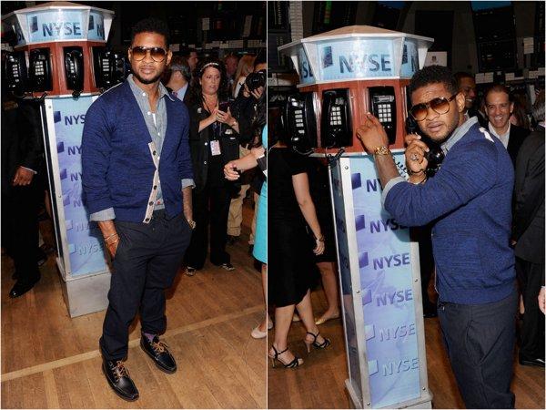 MTV fête ses 30 ans au NYSE ( New York Stock Echange) avec Usher qui visite aussi.