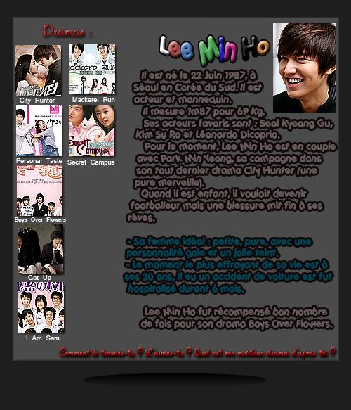 [Catégorie Acteur] Lee Min Ho