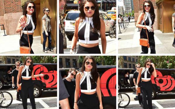 Selena a été aperçu arrivant et sortant de la station radio iHeartRadio + ( vidéo de son passage à iHeartRadio ) + avec des fans.
