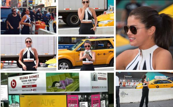 Selly a été vu dans Time Square où il y avait un bilboard à son effigie