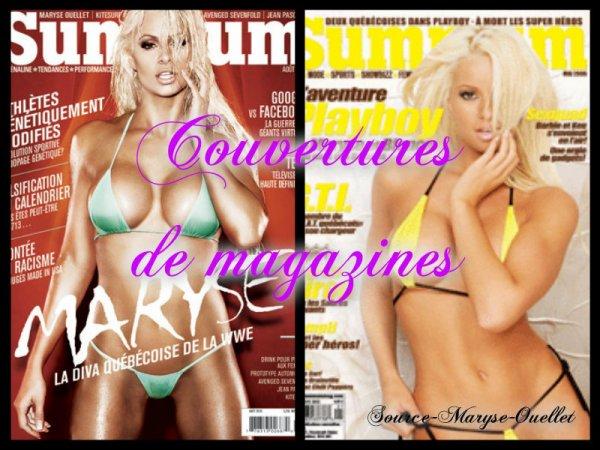 Ses couvertures de magazines