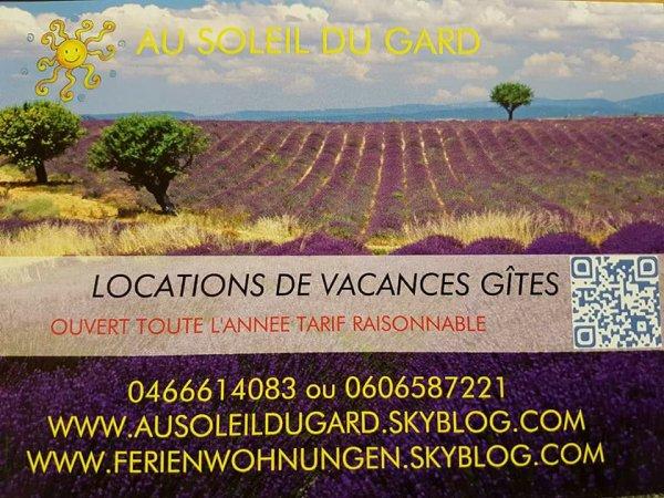 page facebook de nos Gîtes Au Soleil du Gard