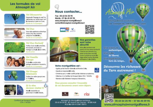 Présentation des vols en montgolfière dans le Tarn