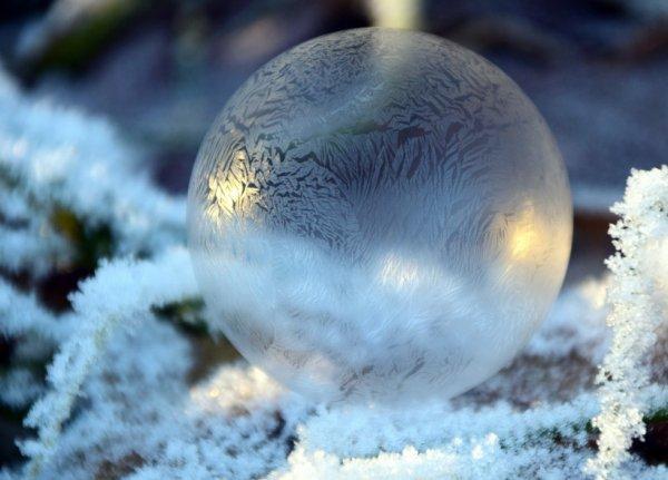 Bulle de savon congelée