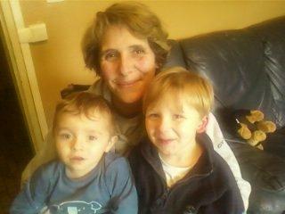 moi et mes deux petits fils