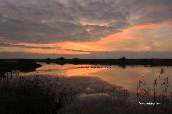 Coucher de soleil sur la baie de Somme le 10/03/17