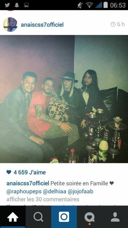 Photos postées par Anais sur Instagram et les derniers tweet qu'elle a poster sur Twitter