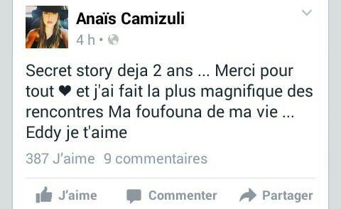 Aujourdhui 2ans qu' Anaïs a fait Secret Story 7