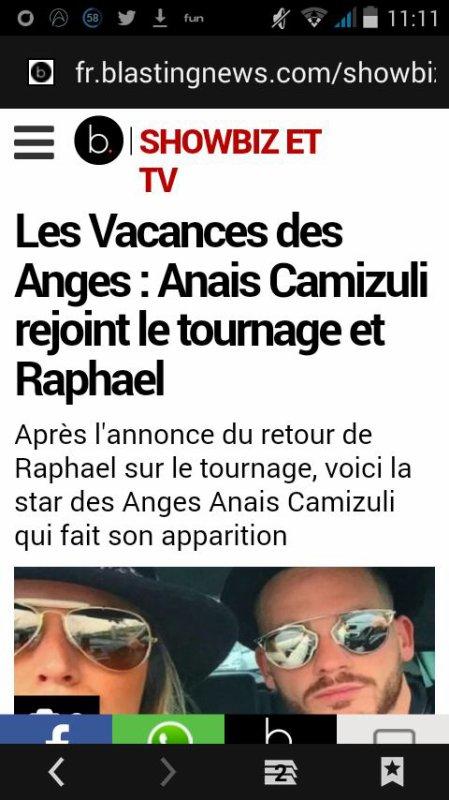 """Anaïs rejoint le tournage """" Les Vacances Des Anges all stars """""""