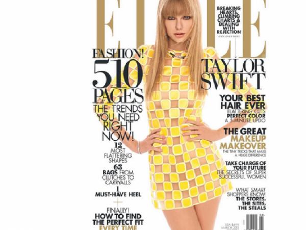 Taylor Swift en couverture d'elle