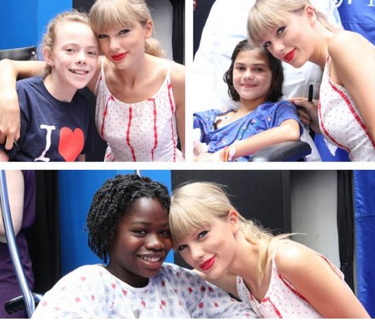 Tayor swift a rendu visite a des enfants malades