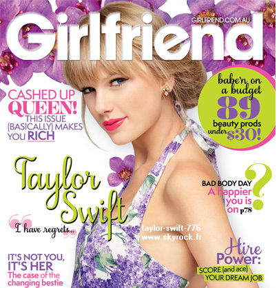 Taylor swift en couverture de Girlfriend