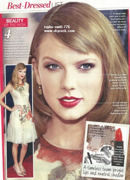 Taylor look: pour Life & Style Weekly