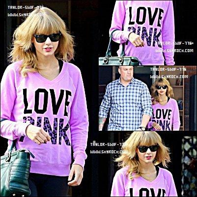 24/10/13 Taylor Swift qui sort d'un studio de danse à Los Angeles, Californie
