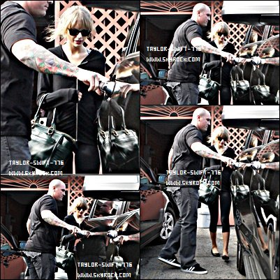 25/10/13 Taylor Swift qui sort d'une salle de dance a Los Angeles