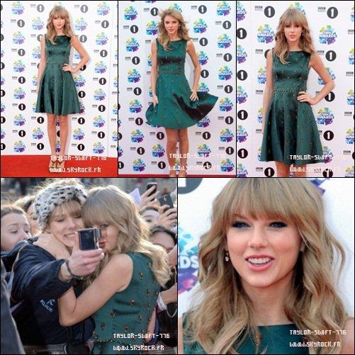 03/11/13 Taylor Swift aux 2013 BBC Radio 1 teen Awards