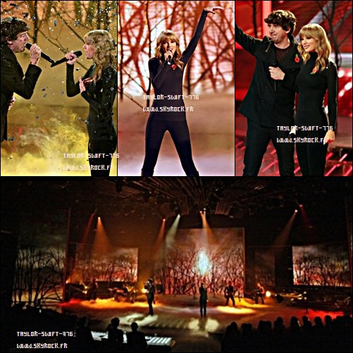 Taylor Swift & Gary Lightbody (Snow Patrol) Performing 'The Last Time' On The X Factor UK - 03/11/13