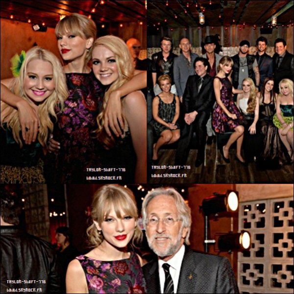 07/11/13 Taylor swift aux Big Machine Label Group CMA Awards After Party