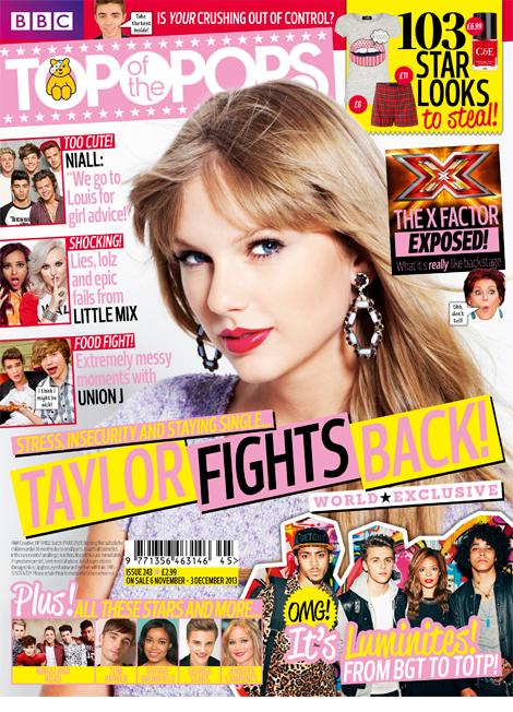 Taylor Swift en couverture de Top of The pop