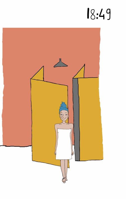 La douche à l' internat