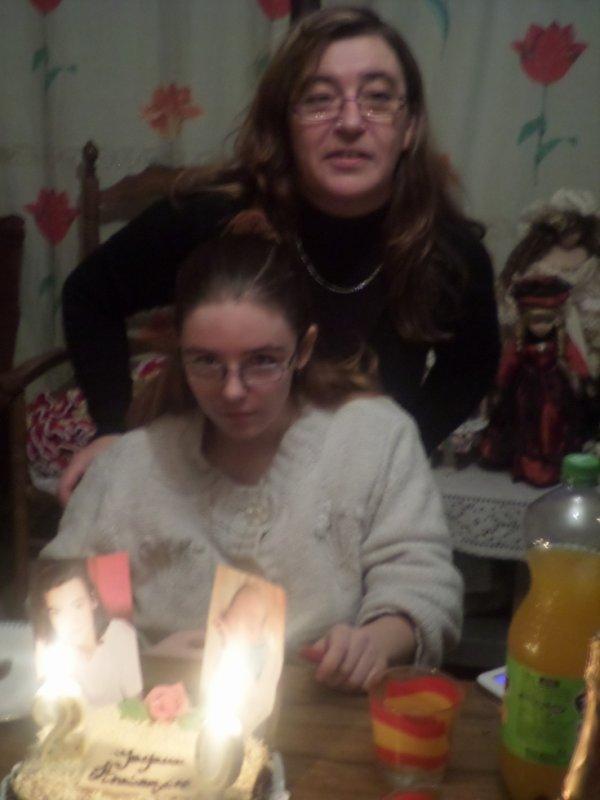 moi et ma fille pour ses 20 ans