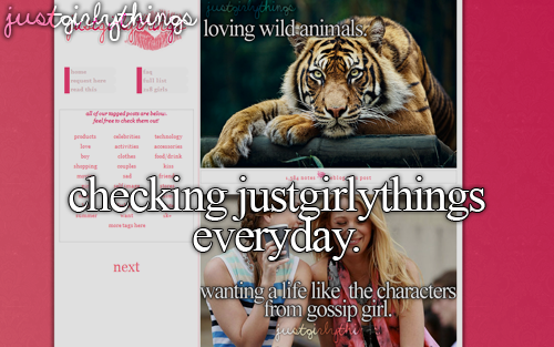 - Just girly things .