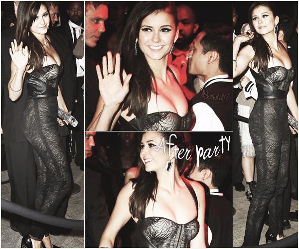 . Nina c'est rendu à la soirée du Met Ball qui est célébrer chaque années. Photo de Nina arrivant au Met Ball.  .