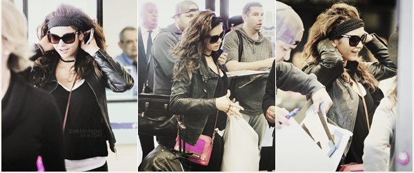 * Nina à était vue hier à l'aéroport de LAX à Los Angeles *