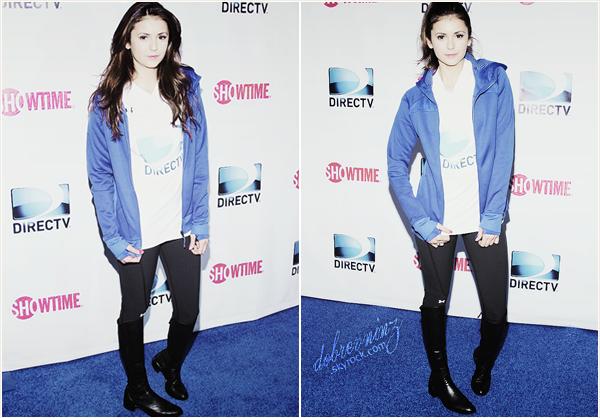 *  1 février, Comme chaque année, Nina était au 8th Annual Celebrity Beach Bowl! *