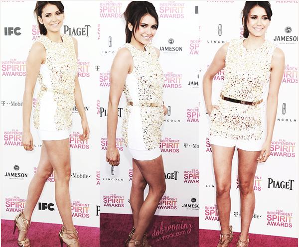 . Nina s'est rendue aux « Film Independent Spirit Awards » + DE PHOTO ICI. .