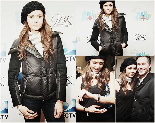 """*  Nina s'est rendu à l'événement """"DirecTV Gift Lounge"""" qui durait le temps du Super Bowl. *"""