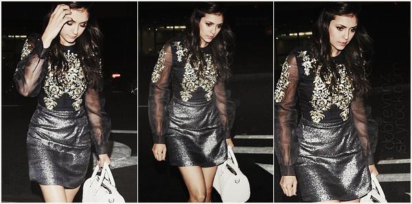 *  Hier, le 11 janvier, Nina était présente au Gala « Heaven » de Art of Elysium. *