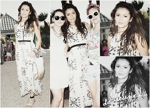 """* Nina au festival Coachella lors de la 3éme journée. Elle s'est rendue à l'événement """"Soho Desert House With Bacardi"""" *"""