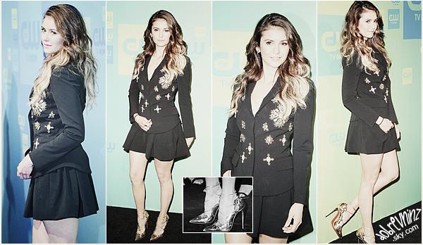 * Le 15 Mai ont eulieux lesupfrontsde la chaîne CW, Nina y était présente. *