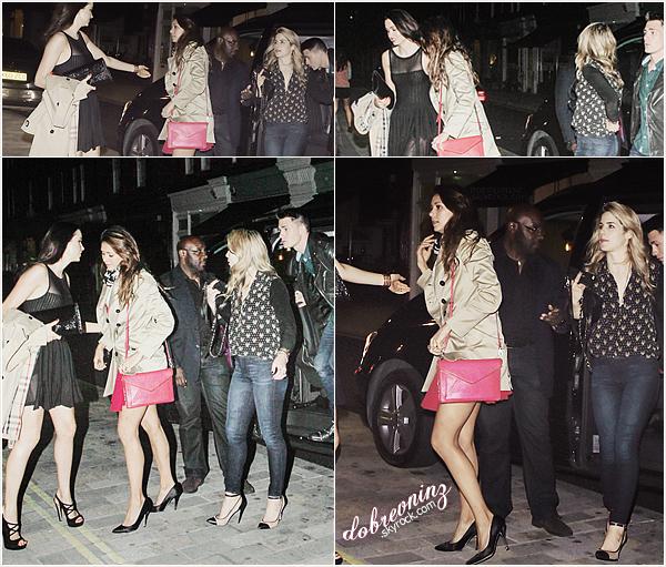 """Nina à été aperçue le6 Juin, arrivant au club """"FireHouse"""" àLondre, en compagnie deColton Haynes."""