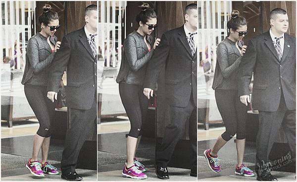 Nina à été vue, hier le10 Juin, elle quittait son hôtel àNew York.