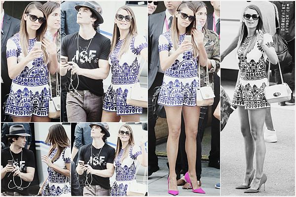 Cette fois ci, Nina était au Comic Con à San Diego avec le cast de The Vampire Diaries.