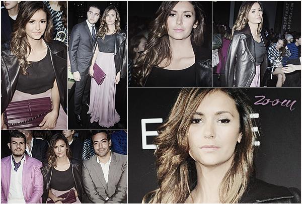 Nina à assisté au défilé« Elie Saab» à Paris le 9 Juillet.