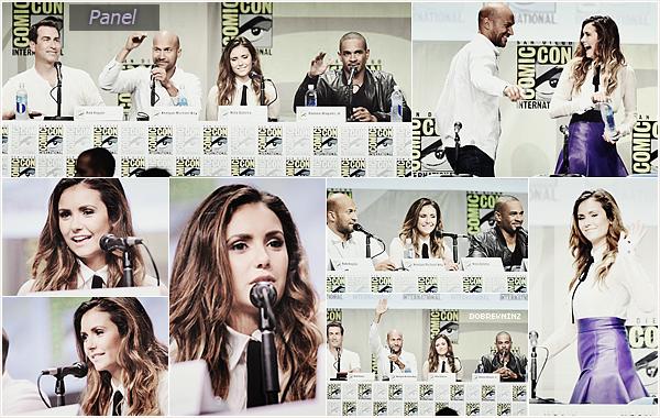 """Nina au Comic Con de San Diego le 25 Juillet pour le film """"Let's be Cops."""""""