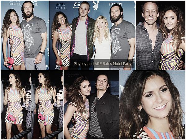 Nina à l'événement« Playboy A&E's Bates Motel » àSan Diego.