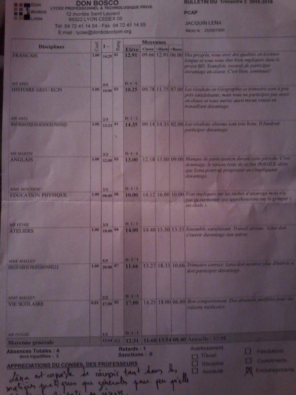 Mon bulletin scolaire