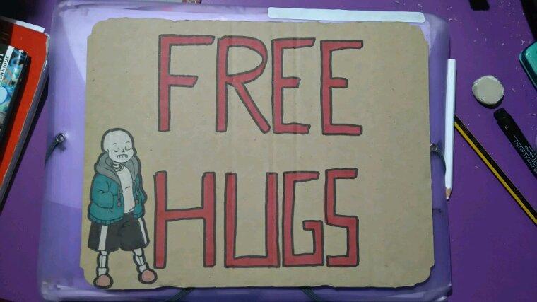 JAPAN TOUCH 2016 - Panneau Free Hugs
