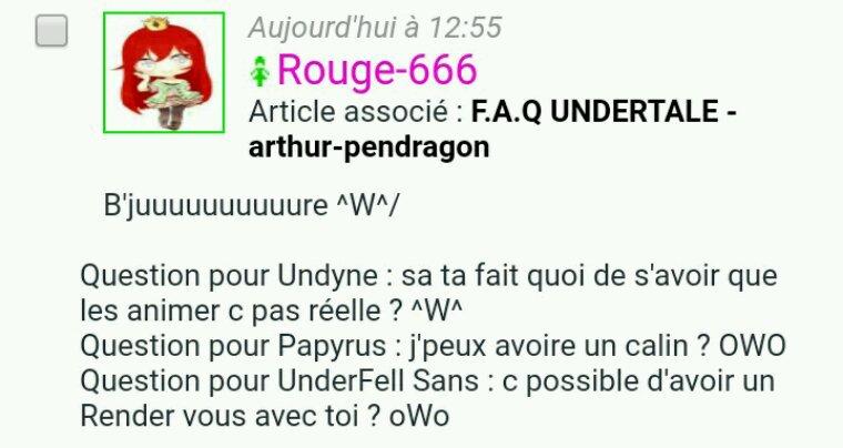 F.A.Q UNDERTALE - Rouge-666